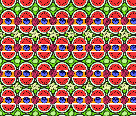 Fruit salad 3 fabric by gcatmash on Spoonflower - custom fabric