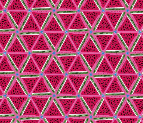 Juicy Watermelon fabric by whimsicalvigilante on Spoonflower - custom fabric
