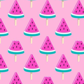 watermelon popsicles - bold on pink