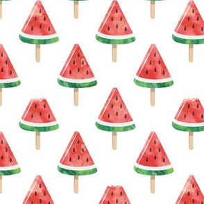 watermelon popsicles - red