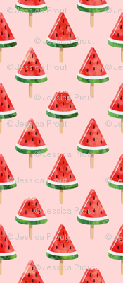 watermelon popsicles - red on pink