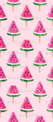 watermelon popsicles - pink on pink