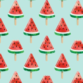 watermelon popsicles - red on green