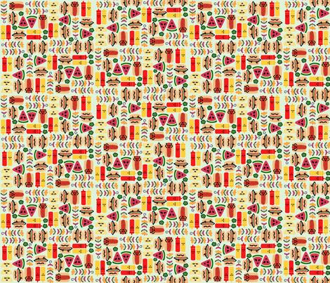 BBQ Cuties fabric by craftsturbator_ on Spoonflower - custom fabric