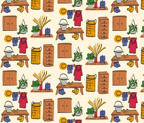 Happy Homestead fabric by lestey on Spoonflower - custom fabric