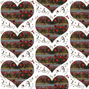 Geranium Hearts on the Garden Wall