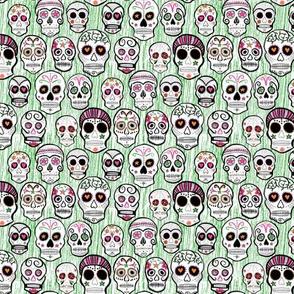 Sugar Skulls green
