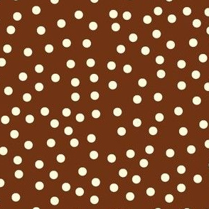 Twinkling Creamy Dots on  Chocolate Fudge - Large Scale