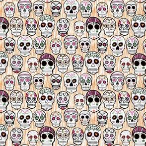 Sugar skulls orange