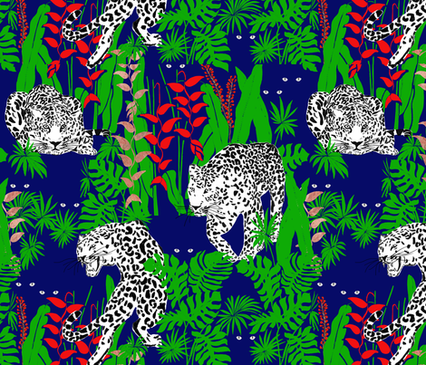 Jungle cats fabric by namrata on Spoonflower - custom fabric