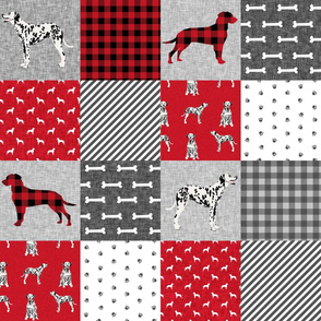 dalmatian pet quilt a collection floral cheater quilt dog breed fabric