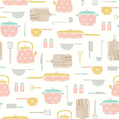 Kitchen tools 2 fabric by kondratya on Spoonflower - custom fabric