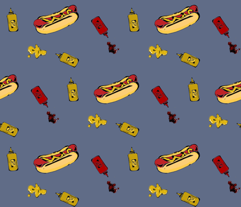 hotdogs fabric by spotted_badger on Spoonflower - custom fabric