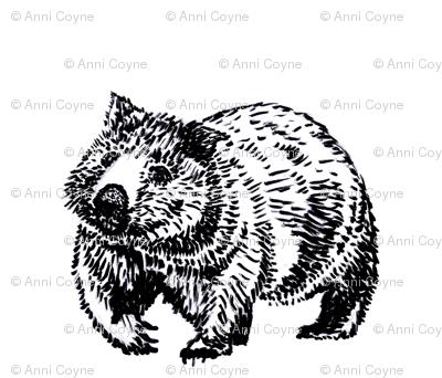 Wombat trot-B&W-