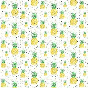 Pineapples and paint splatter