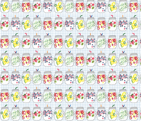 Summer infuesed water fabric by candice_kim on Spoonflower - custom fabric