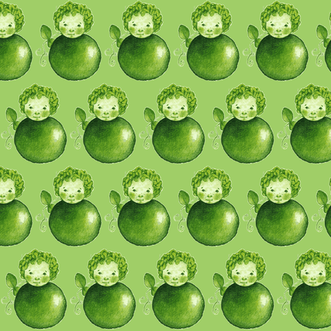 Sweat Pea green  fabric by maria_asenova on Spoonflower - custom fabric