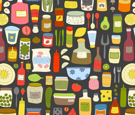 Cookout Condiments fabric by sarahparr on Spoonflower - custom fabric