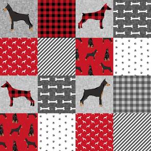 doberman pinscher pet quilt  a cheater quilt dog breed nursery collection
