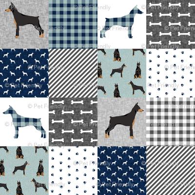 doberman pinscher pet quilt  b cheater quilt dog breed nursery collection
