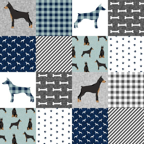 doberman pinscher pet quilt  b cheater quilt dog breed nursery collection