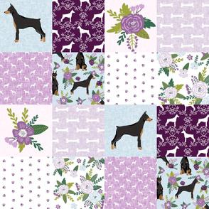 doberman pinscher pet quilt  c cheater quilt dog breed nursery collection