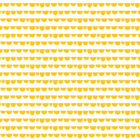 sunny stormy scallops yellow - small fabric by misstiina on Spoonflower - custom fabric