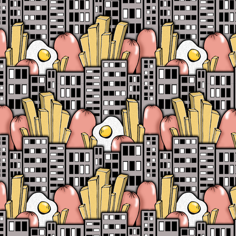 Weiner City fabric by sufficiency on Spoonflower - custom fabric