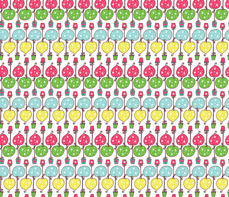 Funky Trees fabric by debraclutterdesigns on Spoonflower - custom fabric