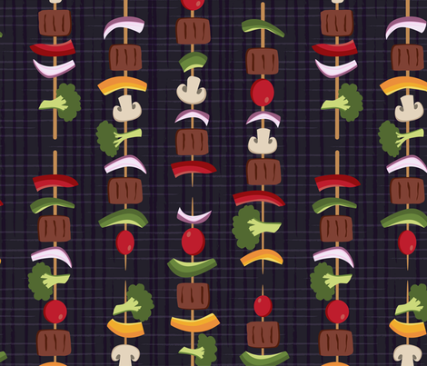 Kebabs on the Grill fabric by diseminger on Spoonflower - custom fabric