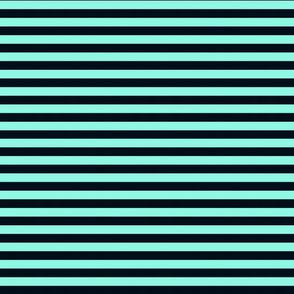 Aqua & Black Stripe