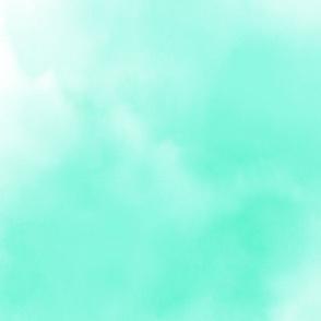 Aqua and White Watercolor Wash Sky
