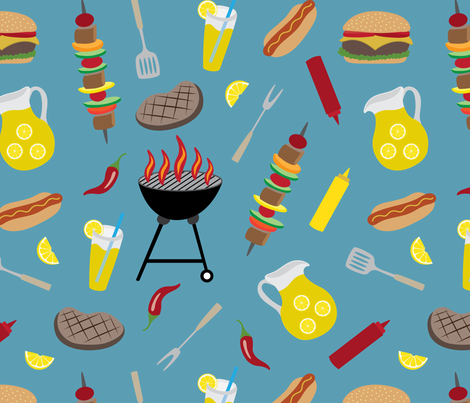 Summer Cookout fabric by jolynart on Spoonflower - custom fabric