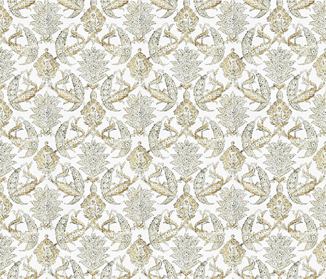 Farmhouse curtains wheat floral fabric by jenlats on Spoonflower - custom fabric