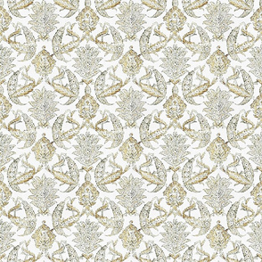 Farmhouse curtains wheat floral