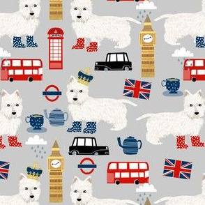 westie london travel england big ben dog breed fabric grey