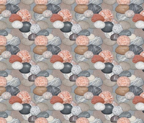Stone Collage fabric by wovenart on Spoonflower - custom fabric