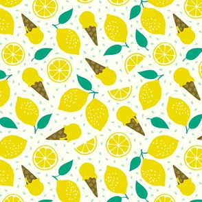 Lemon summer ice cream party