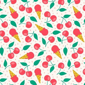 Cherry summer ice cream party