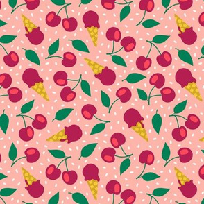 Cherry summer ice cream party blush