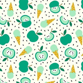 Apple summer ice cream party green