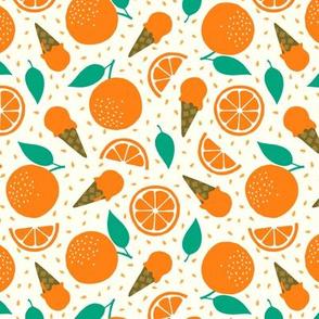 Orange summer ice cream party