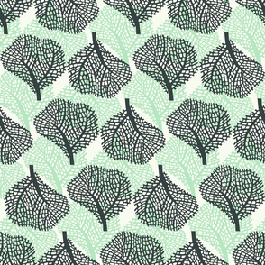 Coral - white - gray and green