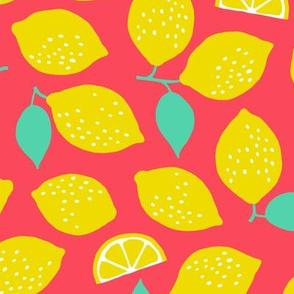 Summer Lemons pink/rose (large)