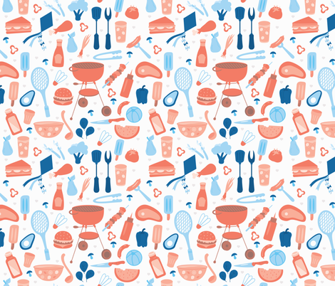 Kansas City BBQ fabric by crystal_whitlow on Spoonflower - custom fabric