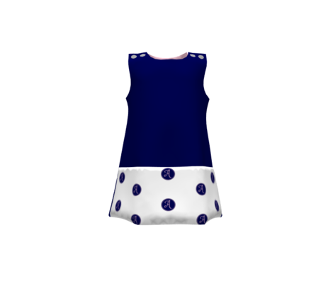 Letter A - Pink & Navy