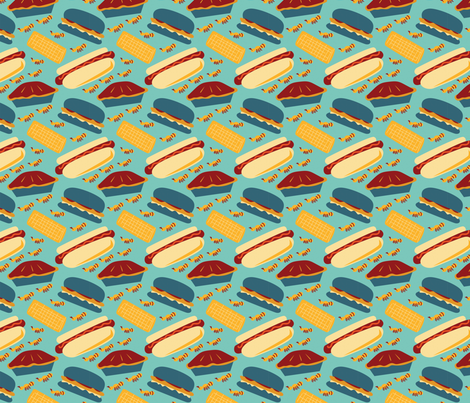 Summer BBQ fabric by whyitsme_design on Spoonflower - custom fabric