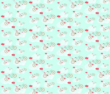 Riding on Air fabric by la_panim on Spoonflower - custom fabric