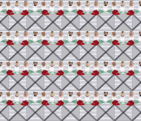 TilingFarmTinyPupsJJ fabric by sherry-savannah on Spoonflower - custom fabric
