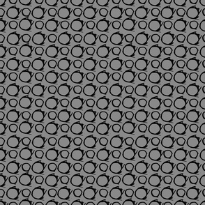 Two Circles black gray